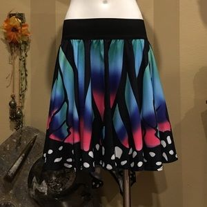 Dresses & Skirts - Burning Man colorful asymmetric butterfly skirt